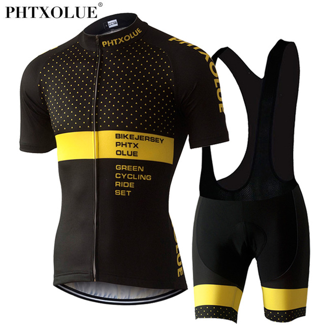 PHTXOLUE Cycling Clothing Cycling Bike Clothing/Breathable Men Bicycle Wear Spring Summer Short Sleeve Cycling Jerseys sets