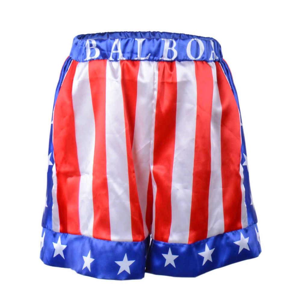 bac6457f28cf ... Rocky Balboa Apollo Boxing Robe World Champion Costume Kids American  Flag Boxing Costume Outfit Hooded Cloak ...