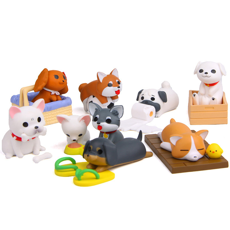 Image 2 - Artificial Puppy Model Mini Dog figurine cartoon animal fairy garden home miniature ornament desk decoration DIY accessory-in Figurines & Miniatures from Home & Garden