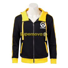 Supernova OW 76 Soldier Jacket with Hoddies Yellow 76 Soldier Cospaly Costume Game OW Men's Sweater Adult Halloween Costumes