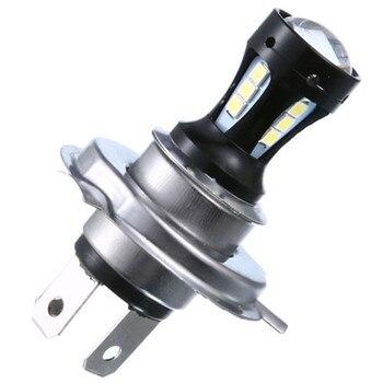 H4 18 W de la motocicleta 3030 LED-Lo faro motocicleta bombilla de luz DC12-24V