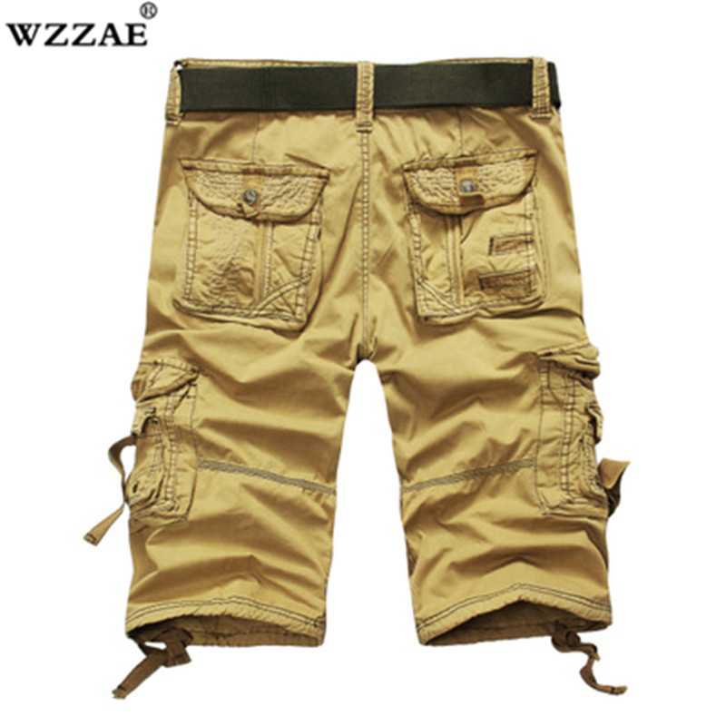 New Plus Size 29-42 Shorts Men Casual Male Loose Work Shorts Man Military Short Camouflage Cargo Shorts Men Dropshipping