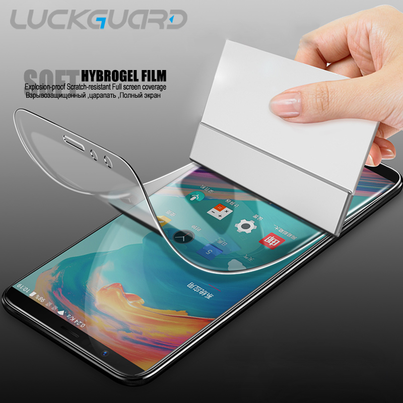 LuckGuard Hydrogel Film For OnePLus 5T Full Cover Soft Screen Protector Film For OnePlus 5 Oneplus5 T Transparent ( no Glass )