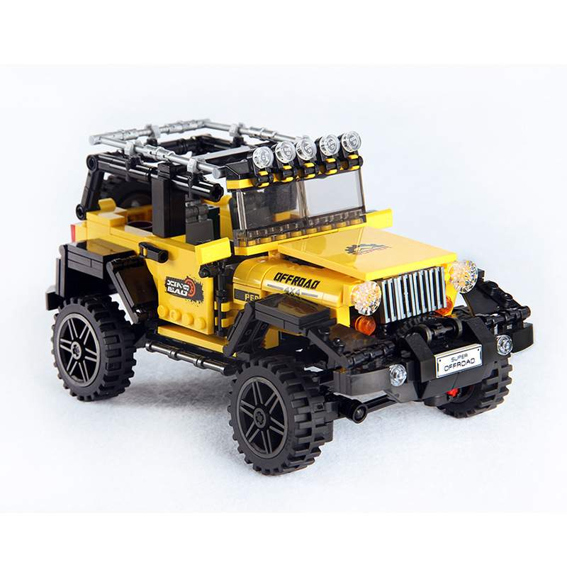 Legoingly Tank Building Blocks Car Series The Offroad Adventure Model Educational Toys For Children Birthday Gifts