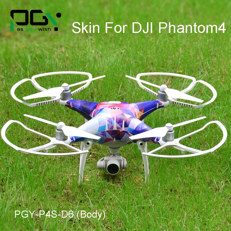 PGY dji phantom 4 Accessories Skin Decal Stickers PVC 3M film Vinyl Film DJI Phantom 4 drone Wrap Sheet Film Sticker D6