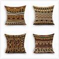 África onda tarja geometria capa de almofada de linho de algodão do vintage boêmio almofadas decorativas sofá fronhas Bege Produto