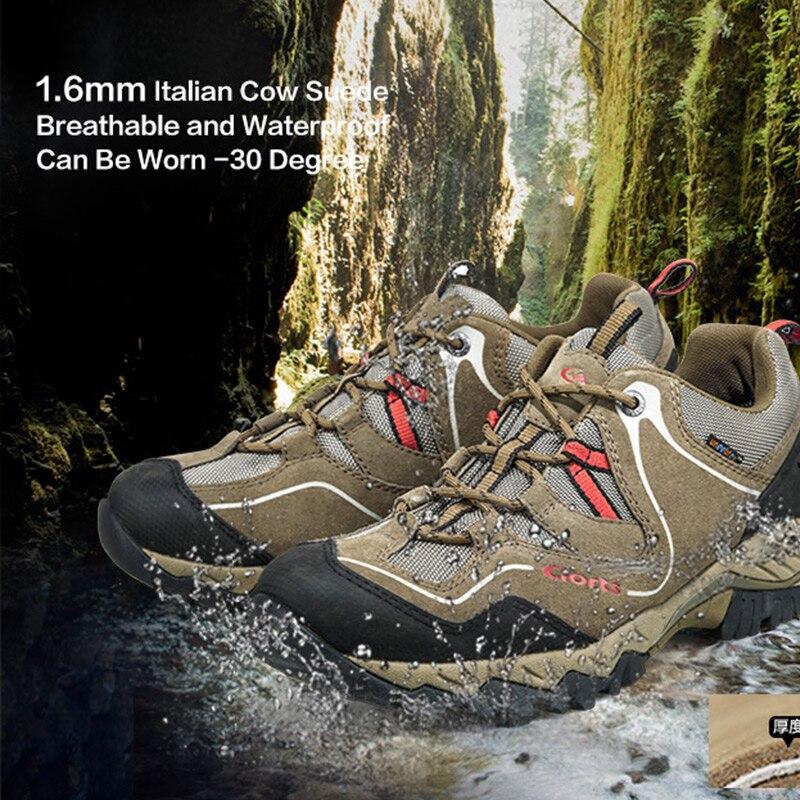Siroté À RU Clorts Hommes Escalade Chaussures Vache Suede Sneakers Hommes Chaussures Imperméables Hommes Randonnée Chaussures HKL-826D