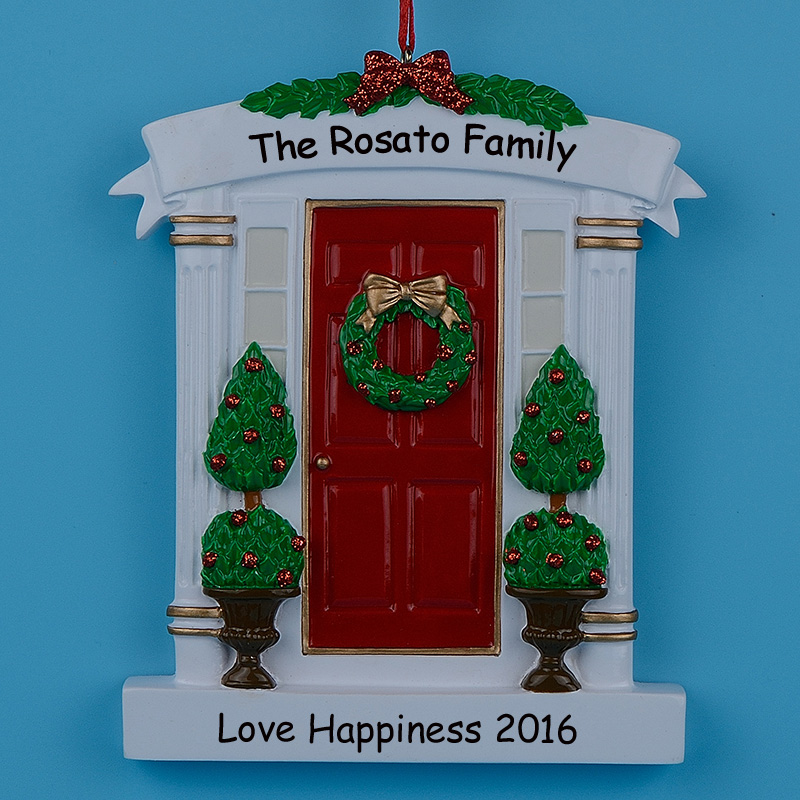Whole Sale Home Decor: Wholesale Resin Wreath And Pine Tree Red Home Door