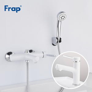 Image 1 - Frap белый смеситель для ванной комнаты, смеситель для ванной комнаты с раковиной grifo ducha