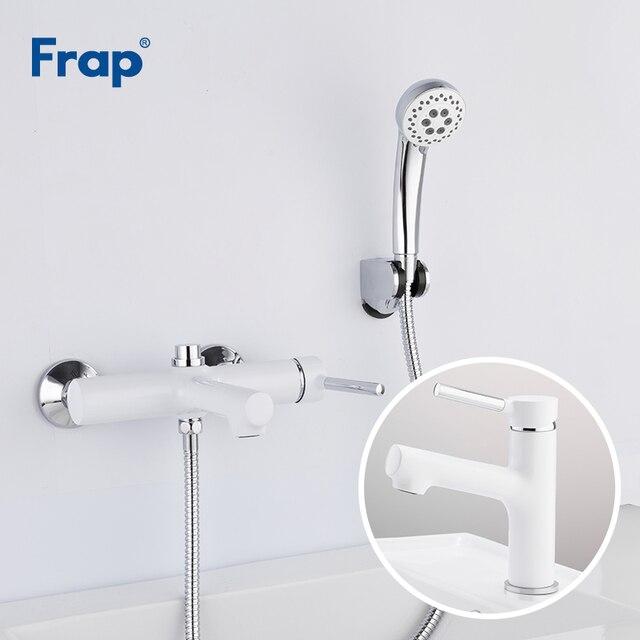 Frap белый смеситель для ванной комнаты, смеситель для ванной комнаты с раковиной grifo ducha