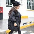4 5 6 7 8 9 10 11 12 13 14 Años de la Capa Ropa de invierno Chaquetas de Invierno Para Niñas de Algodón Caliente Parka Niñas Adolescentes de La Moda traje