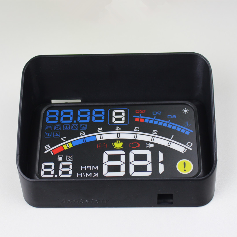 "ActiSafety 4E OBDII Avtomobil hud Head Up Ekran Film 5.5 ""HUD Head-Up Ekran şüşəsi Proyektor OBD2 Kabel Hud + Brack"