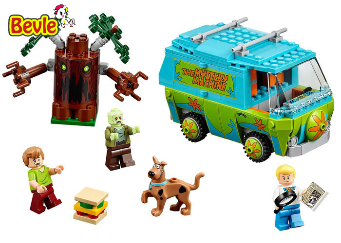 Bela 10430 305Pcs Compatible with Scooby Doo 75902 Scooby Mystery Machine Bus Building Block Bricks Toys bela scooby doo haunted lighthouse building block model kits scooby doo marvel toys compatible legoe