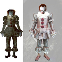 Movie Stephen King's It Cosplay Costume Horror Pennywise Joker Suit Custom Made Carnival Halloween Haunted House Party Costume