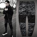 mens joggers 2016 New skinny men pants camouflage hip hop jogger pants military camo harem pants men cargo pants bieber