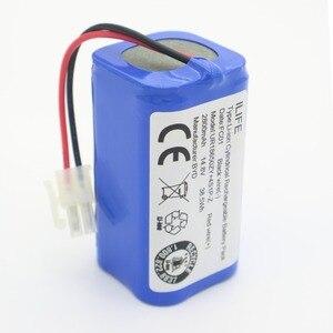 Image 3 - ILIFE Batteria 14.8V 2800mAh 1 * batteria + 4 * pennello robotic vacuum cleaner accessori di ricambio per ilife v7s A6 V7s pro ilife v7s più