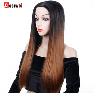 AOSIWIG Ombre Brown Straight L