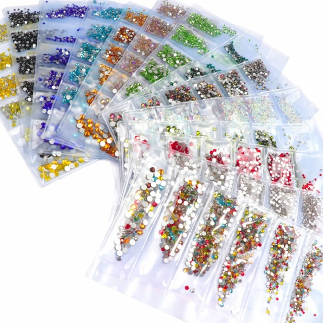 Mix Size Flame Stones Strass Rhinestones Glass Crystal Nail Art Decorations  3d Nails Tips Manicure UV 89d0d92ddc23