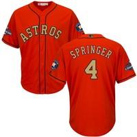 MLB Houston Astros George Springer Orange 2018 Gold Program Player Jersey