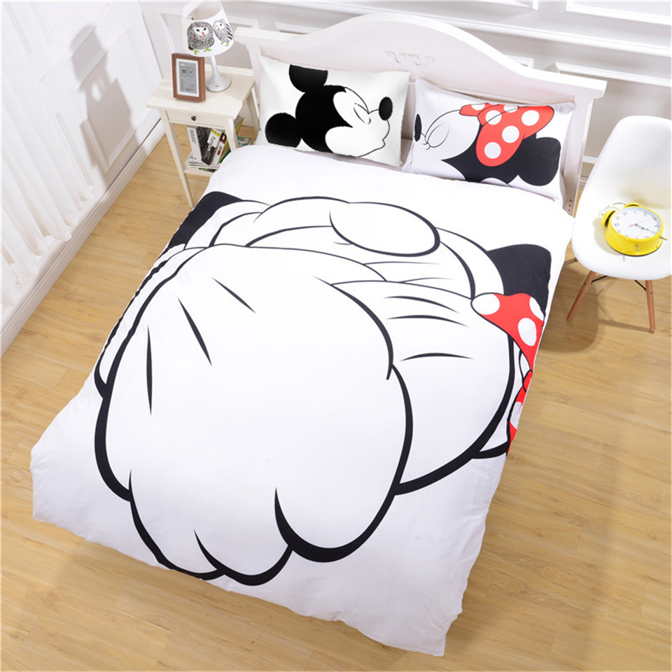 Mickey Minnie Mouse 3D Printed Bedding Sets Adult/Kids Bedroom Decoration Twin Full Queen King Size Duvet Cover Pillowcase set