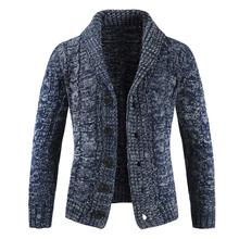 NIBESSER Men's Lapel Cardigan Streetwear Men KnitWinter Men's Stand Collar Sueter Hombre Mens(China)