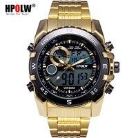 Gold Outdoor-Sport Luxury Uhren Leucht Herrenuhr Digital LED Elektronische Uhr Mann Sportuhren Chronograph Männer Uhr