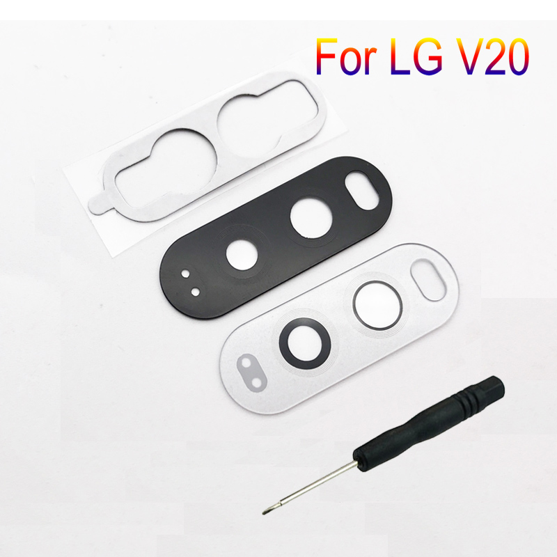For LG V20 H910 H915 H918 F800 F800L H990 LS997 Original Mobile Phone New Housing Back Camera Glass Lens Protector Cover + Tools