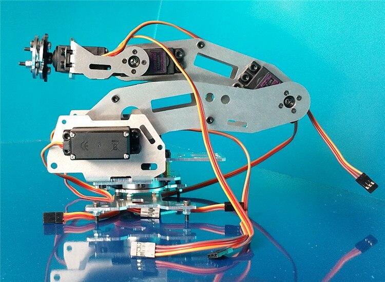 Wenhsin Abb Industrial Robot 688 Mechanical Arm 100% Alloy Manipulator 6-Axis Robot arm Rack with 6 Servos abb 6dof industrial robot mechanical arm alloy robotics arm rack with servos for arduino assembled