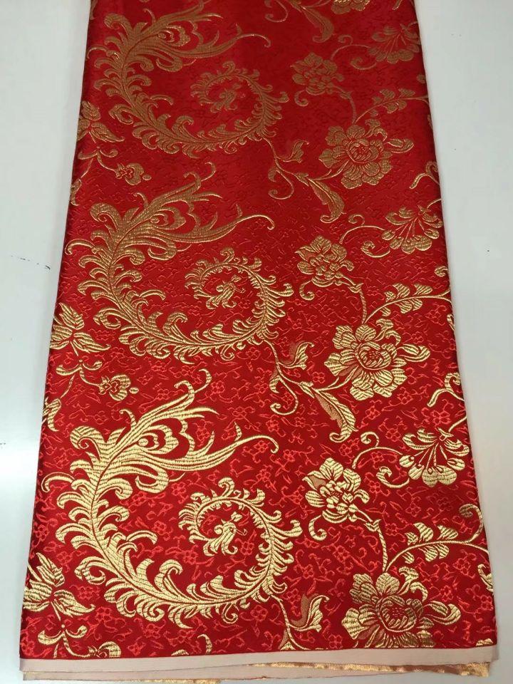 8 Meters/pc offre spéciale rouge coton africain tissu et or phoenix motif broderie suisse voile dentelle pour vêtements JC21-3