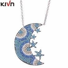 KIVN Fashion Jewelry Spiritual Blue eye Pave CZ Cubic Zirconia Womens Girls Bridal Wedding Pendant Necklaces Birthday Gifts