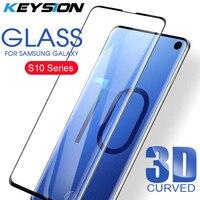 KEYSION 3D Glas Für Samsung Galaxy S10 Plus Screen Protector Gehärtetem Glas Für Galaxy S10 S10 + S10E Gebogene Abdeckung film S10 Plus