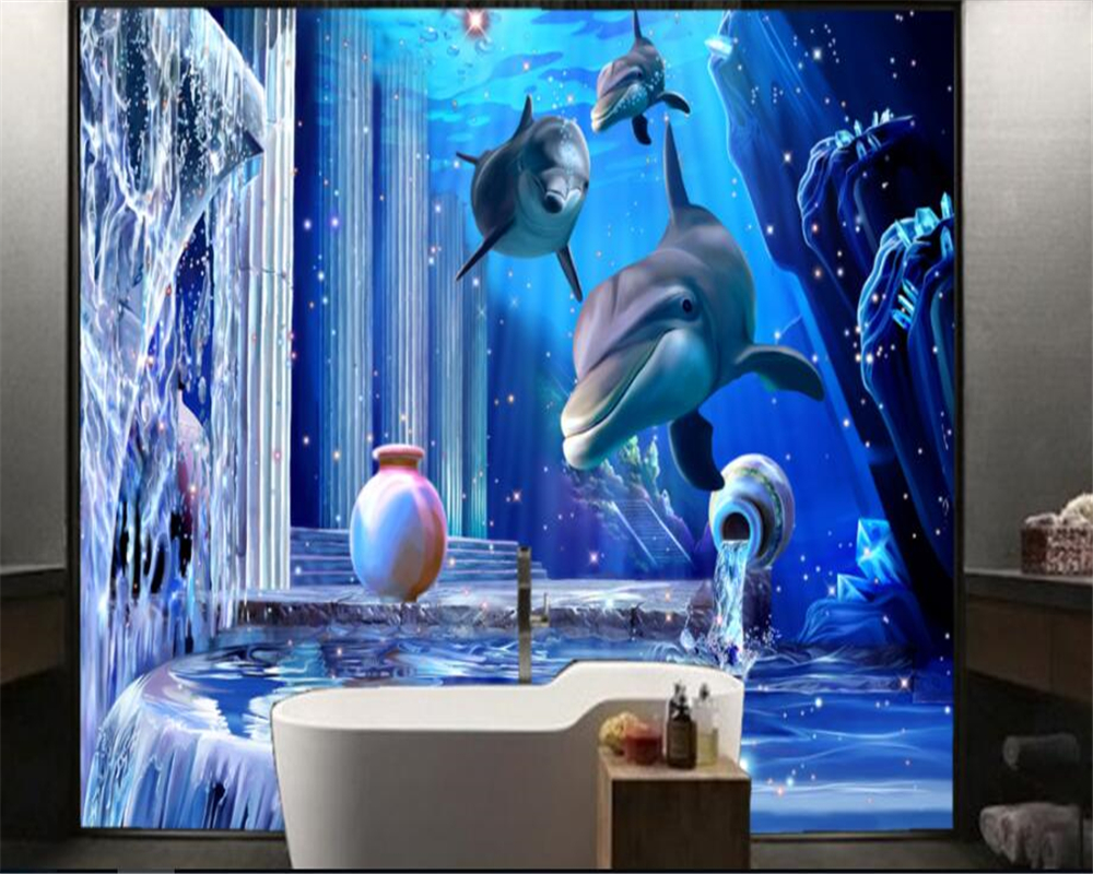 beibehang high end fashion aesthetic wallpaper 3d submarine small