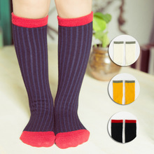 2 pairs /children socks 2016 new autumn and winter spell color cotton in tube socks kids 1-3 years old boy / girl socks 3 colors