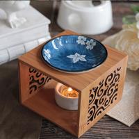 Hollow Bamboo Wood Essential Oil Lamps Handmade Candles Incense Burner Oil Aroma Burner Natural Essential Oils Air Freshener