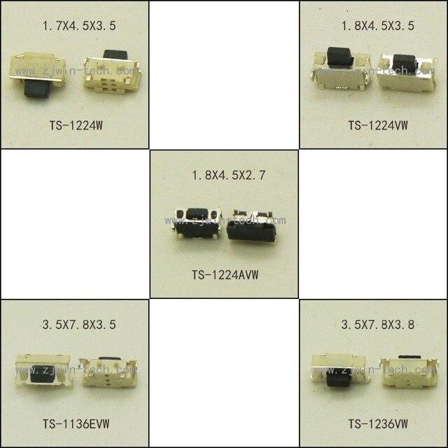 50 قطعة/5 نماذج ميمونيتي اللباقة التبديل مصلحة الارصاد الجوية الهاتف زر الجانب دفع مايكرو زر ضوء اللمس التبديل 2X4 مللي متر/3X6X3.5 مللي متر