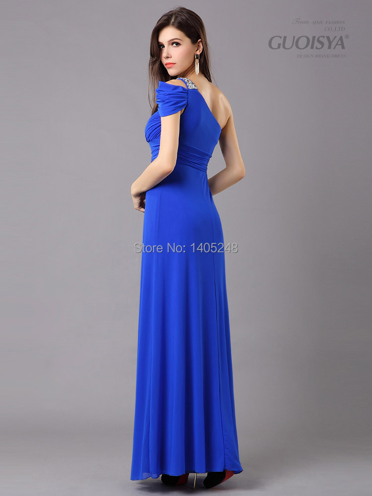 evening greek goddess red one shoulder dress evening wear long dress wedding banquet toast