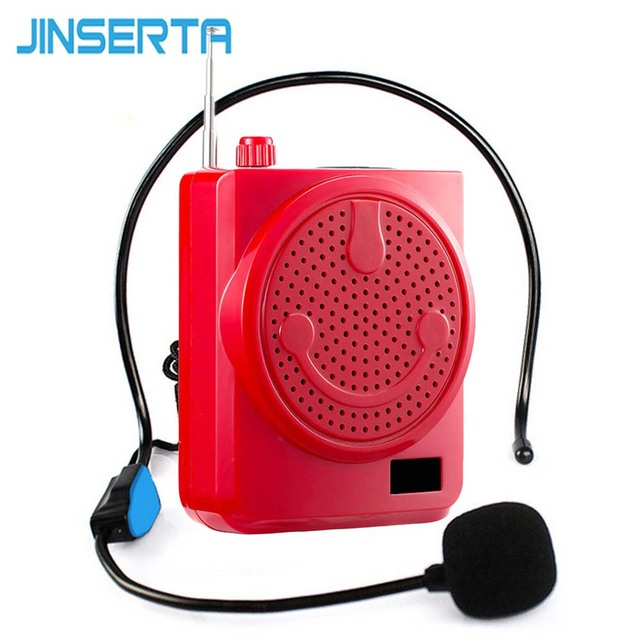 JINSERTA Portable Voice Speaker Mini Wireless Voice Amplifier with LED Display Support USB TF Card FM Radio for Teacher