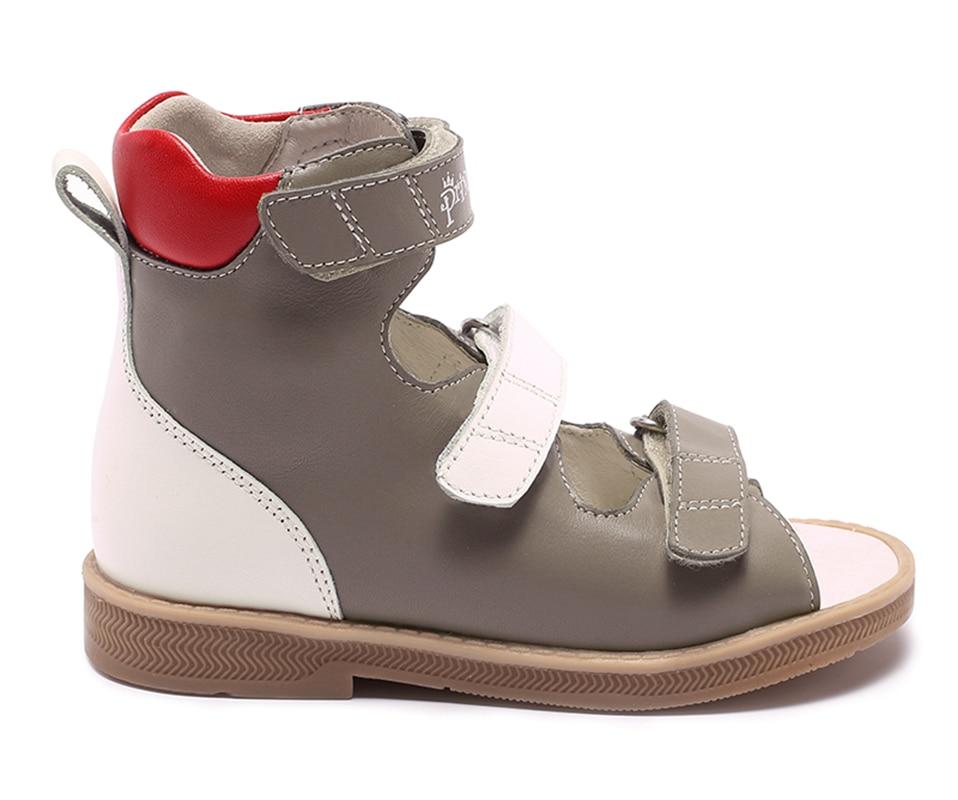 Princepard marque nouveau enfants chaussures d'été crochet boucle fermé orteil bambin filles sandales orthopédique sport en cuir véritable bébé filles - 4