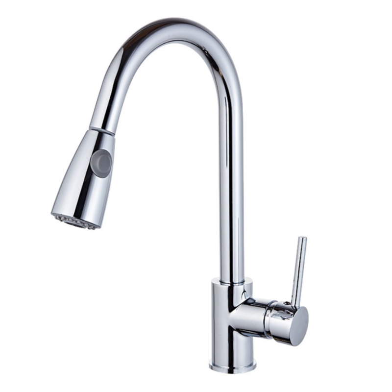 360 Degrees Rotatable Modern Brushed Nickel Pull Out Kitchen Faucet Solid Brass Single Handle Wash Basin Sink Mixer Faucets pull out kitchen faucets brushed nickel sink mixer tap 360 degree rotatable torneira cozinha mixer taps