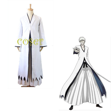 BLEACH White ichigo Cosplay Costume Clothes Cloak & Pants & Belt Kimono Uniform Suit Outfit