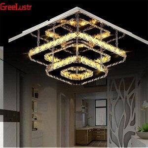 Image 2 - K9 クリスタルシーリングランプフィクスチャ現代シャンデリアlustres led飾りため階段廊下屋内ホーム天井ランプluminaria