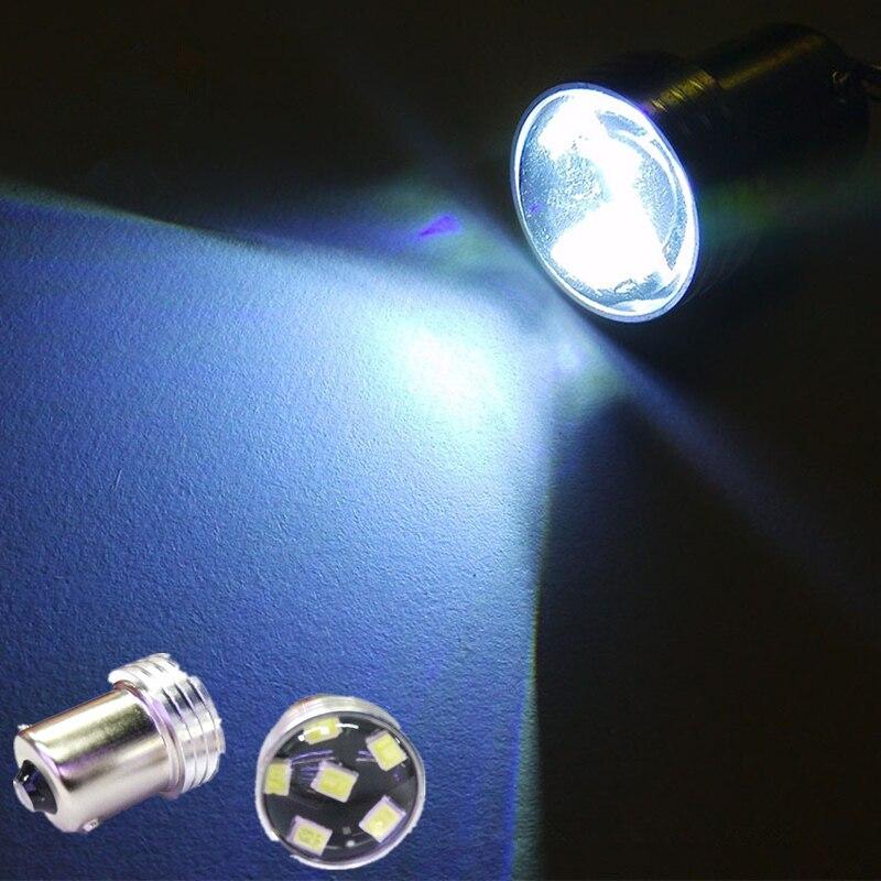 2Pcs Free Shipping 1156-2835-6SMD R5W Brake Lamps COB Interior Bulbs Light Parking Backup Canbus No Error Car xenon Auto Led Car