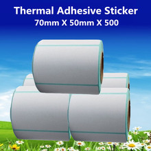70*50*500pcs per roll Thermal Label Adhesive Stickers 70mm X 50mm Thermal Sensitive Adhesive Sticker Barcode Printer Labels