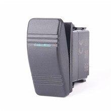 50 pcs  3 pin Boat Marine switch green LED ON-OFF illuminated Rocker Switch UPS free shipping