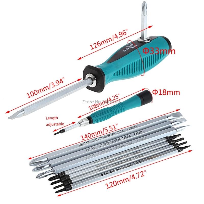 For 10Pcs/Set Slit Sets Magnetic Screwdriver Repair Multi Function Multi Hand Tool Set Promotion