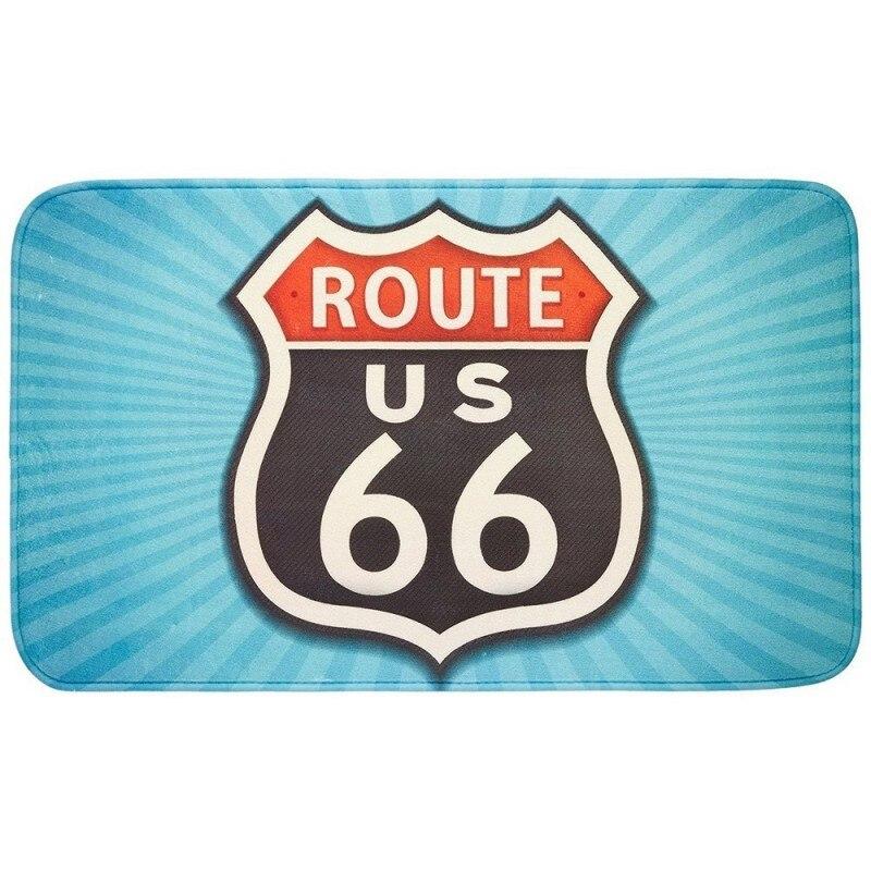 WENKO-21583-Mat Bathroom Vintage Route 66