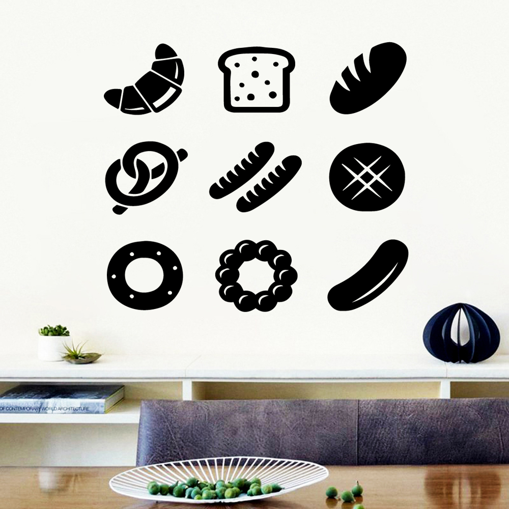Free shipping fast food Home Decor Modern Acrylic Decoration Removable Wall Sticker Art Decoration DIY Home Decor in Wall Stickers from Home Garden