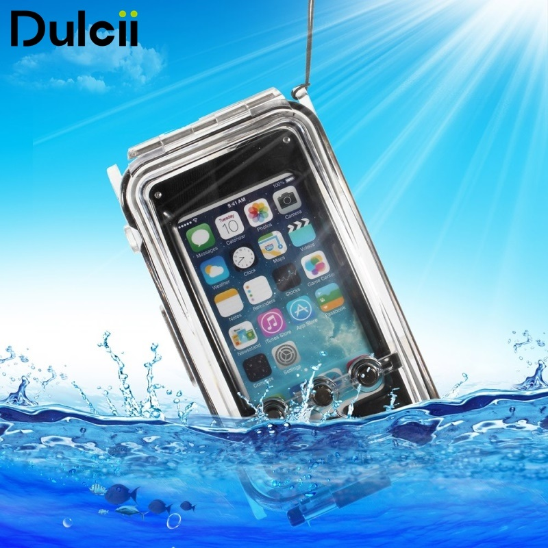 Dulcii for Apple iPhone 5 5c Cover IPX8 Waterproof Photo Housing 40m/130ft Rated Underwater Case for iPhone SE 5s 5 5c Black