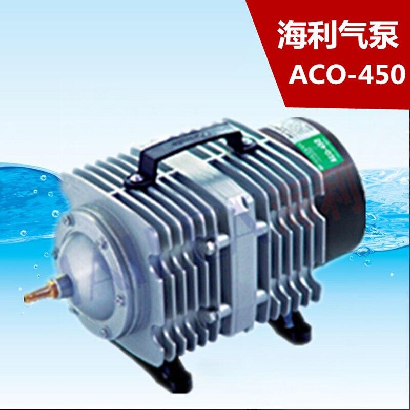 280L/min Hailea ACO 450 электрические магнитные воздушный компрессор насос с 26 Путь воздуха Splitter аквариума гидропоники аэратор