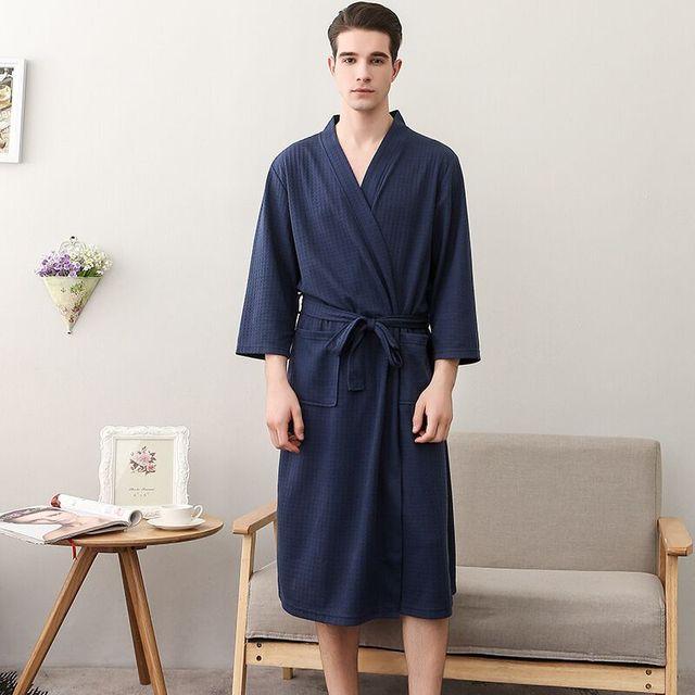 Kimono Style Bathrobe For Men And Women